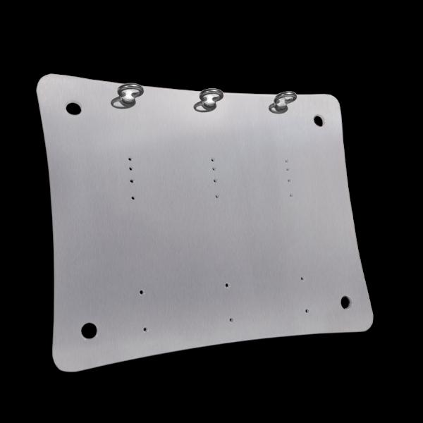 Bedienplatte konkav klein ohne Seilbedienung